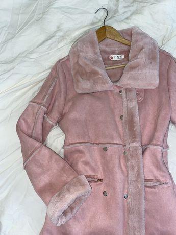 Пальто рожеве
