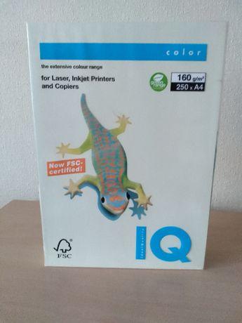 Цветная бумага IQ Color (А4, 160 г/м2, 250 лист.), картон