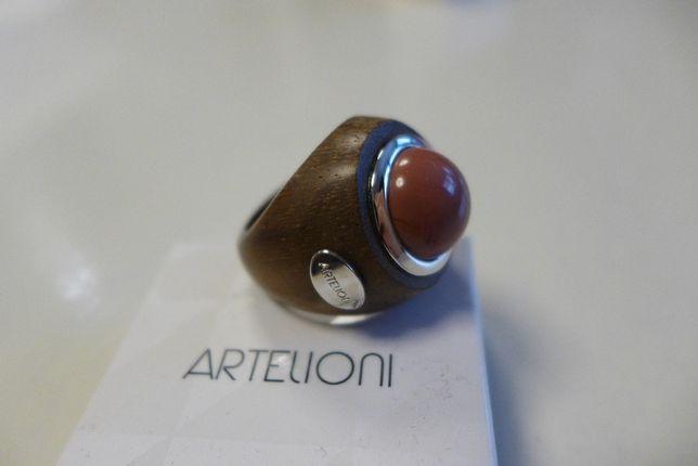 Pierścionek z drewna hebanowego Artelioni