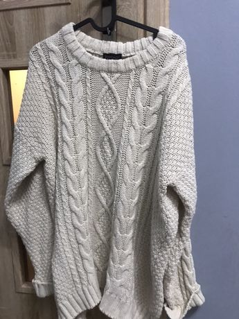Topshop sweter, grube warkocze- wysylka gratis
