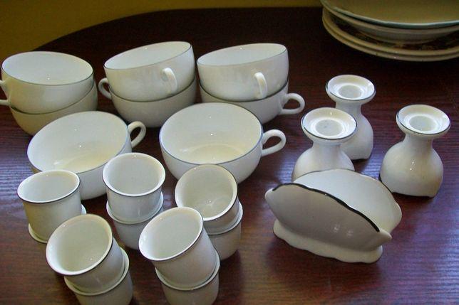 Jarolina zestaw porcelany filiżanki/kieliszki/świeczniki/serwetnik