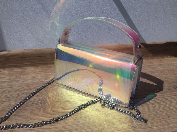 Torebka holograficzna zara
