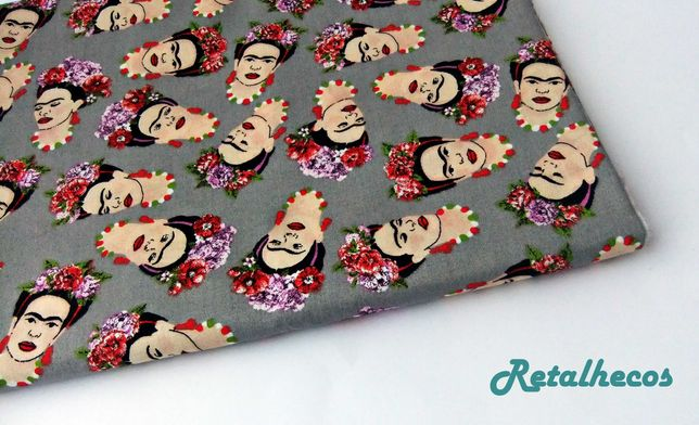 Retalhos Frida Kahlo 100% algodão