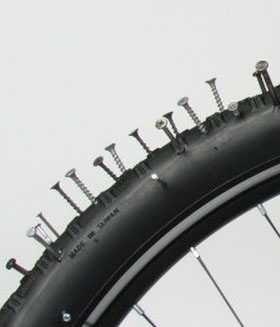 """Цельная, """"Вечная"""", антипрокольная (покрышка) шина для велосипеда, 20"""""""
