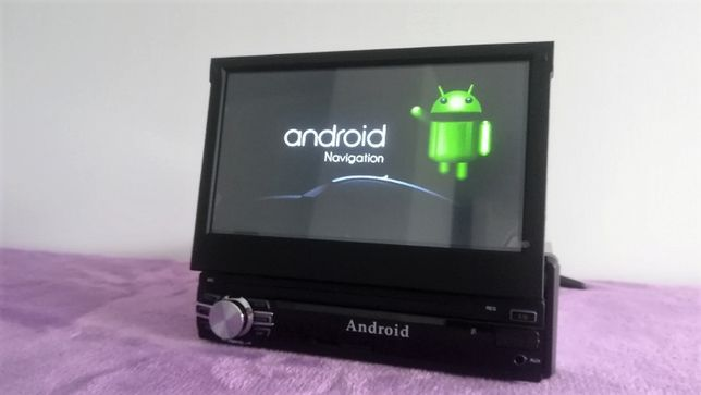 "Rádio 1DIN - 7"" touch - sistema ANDROID"