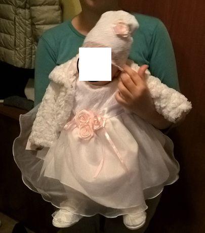 sukienka chrzest dziewczynka 62/68
