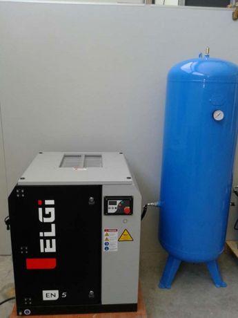 Compressor eletrico parafusos ELGI 7.5hp c/depósito