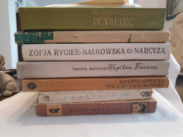 Książki używane. Polska literatura 7szt
