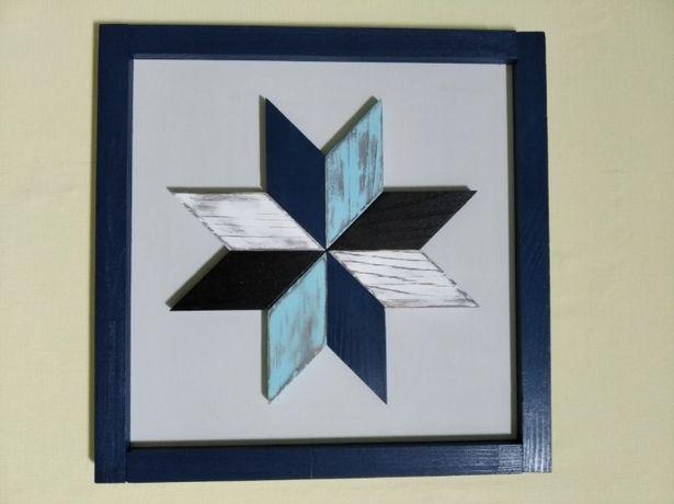 Декор, зірка, восьмикутна зірка синьо-біла, алат