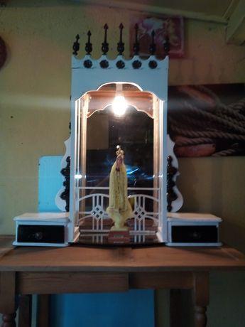 Oratório iluminado feito mao