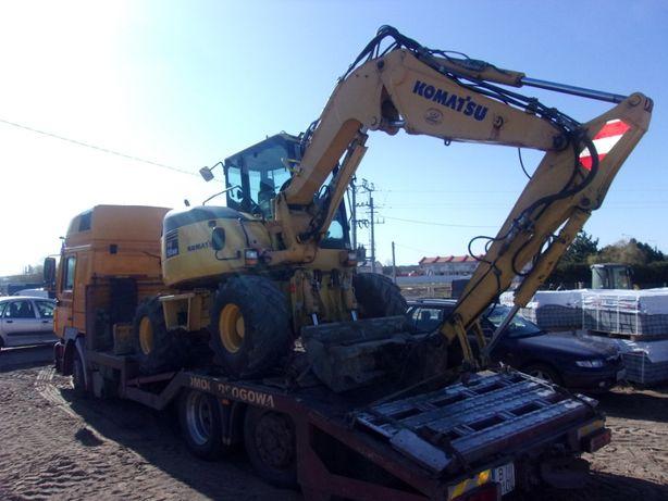Transport maszyn budowlanych koparki podnośniki walce ładowarki itp