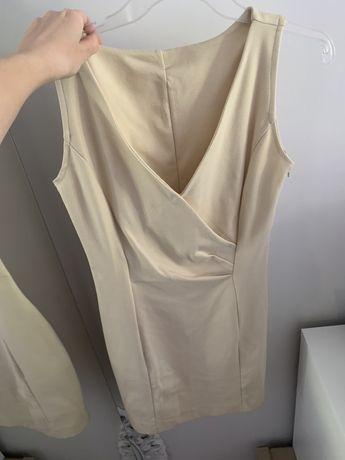Sukienka sukieneczka bezowa roz. S/M