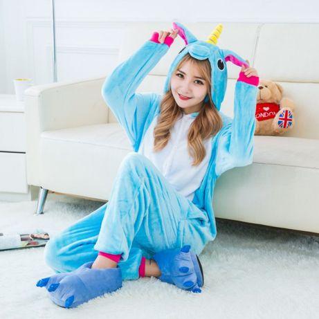 СУПЕРЦЕНА! Пижама кигуруми голубой единорог пижама
