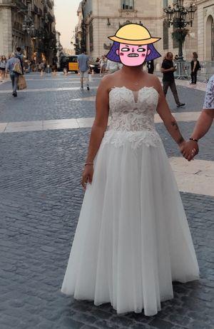 Suknia ślubna gorsetowa kolor ivory