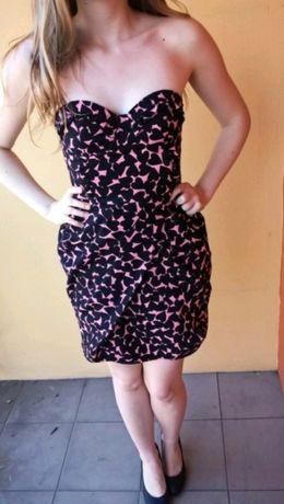Sukienka H&M w serduszka 34 XS