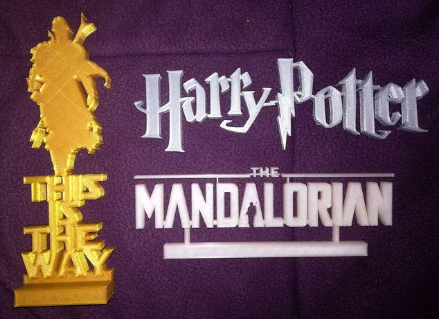 Logótipos em impressão 3d (Harry Potter, Star Wars)