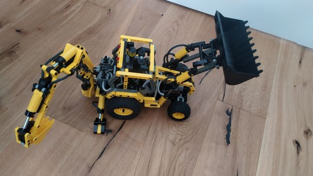 Lego Technic 8455 Koparko Ładowarka Pneumatyczna - UNIKAT 2003r