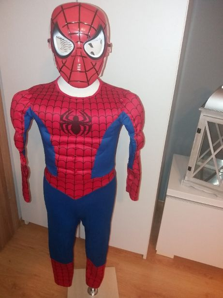 NOWY strój karnawałowy SPIDERMAN MIĘŚNIE przebranie kostium 110/116 (7
