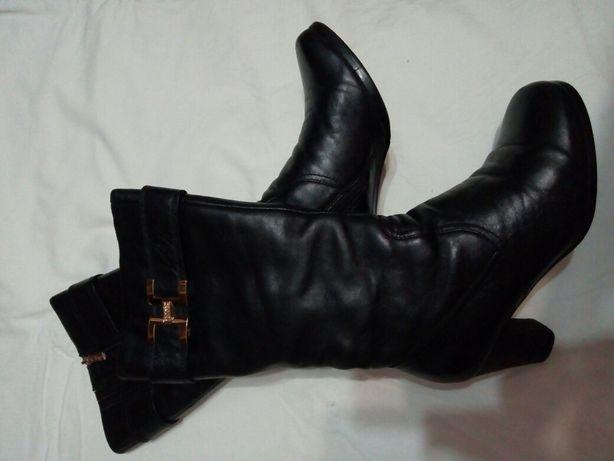 Сапожки, сапоги,  ботинки кожаные зимние меховые натуральные