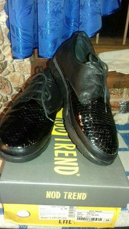 Кожаные женские туфли 38 размер (турция)