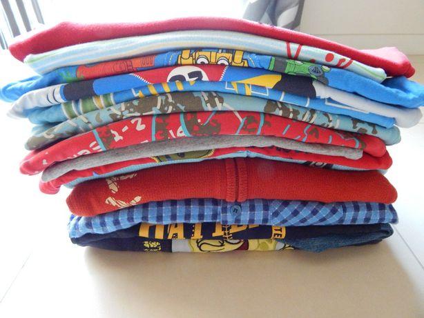 5.10.15. RESERVED i inne T-shirt bluzka długi rekaw zestaw r.110 9szt