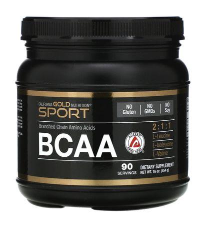 Аминокислоты California Gold Nutrition BCAA 2:1:1 454g 100%