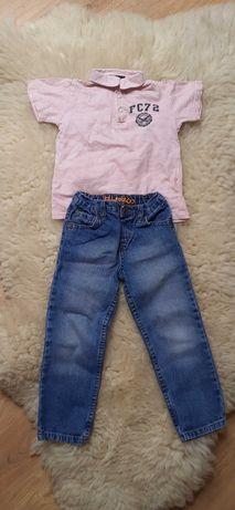 Koszulka polo French Connection i jeansy 4-5lat