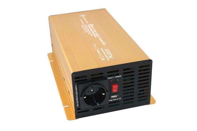 Inversor de 600W 1000W 1500W 2000W de Onda Pura 12V ou 24V