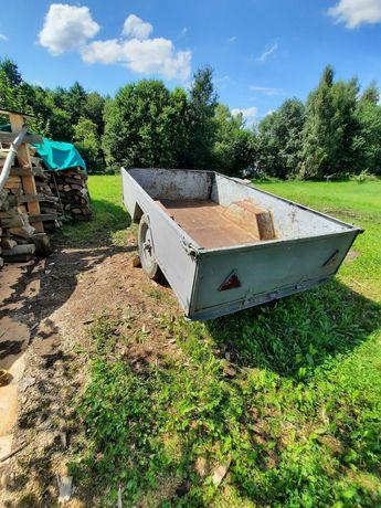 Przyczepa rolnicza do ciągnika jednoosiowa