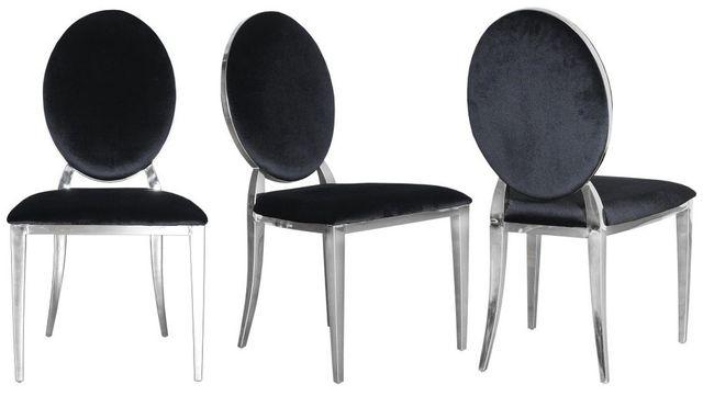 Nowoczesne Krzesło Chromowane FT 83 GLAMOUR czarne