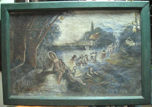 Картина старая Русалки