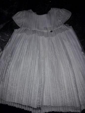 Sukienka do chrztu śmietankowa rozmiar 62