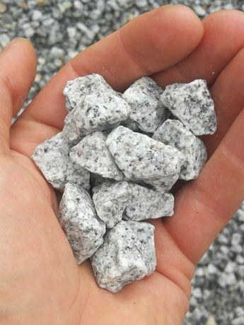 Grys granitowy tzw. Dalmatyńczyk. Skład kamienia ozdobnego.