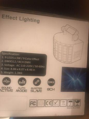 Продам световой прибор STLS 9*3вт, dmx