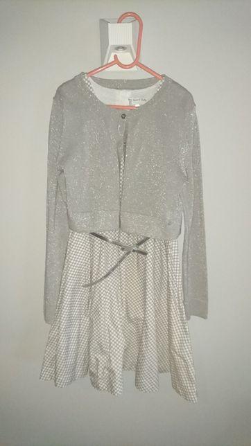 Elegancka sukienka z c&a na 140cm