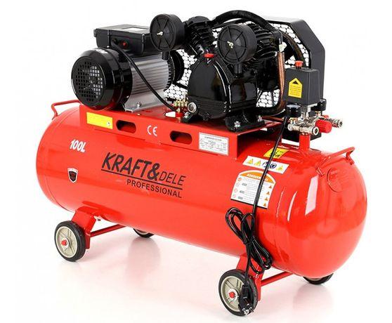 Kompresor olejowy 100l 3,8KM 230V 480l/min Kraft&Dele KD402