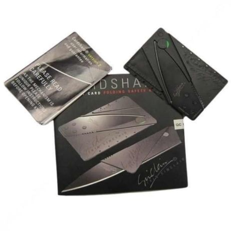 Складной нож в виде карты Sinclair Card Sharp в подарочной упаковке