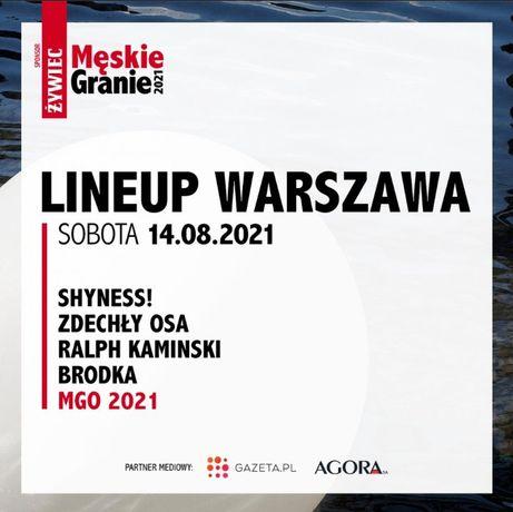 Bilet Warszawa 14.08 Męskie granie