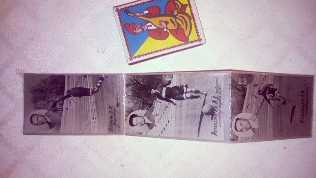 старые сувенирные фото футболистов 3 шт
