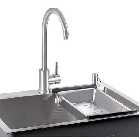 Набір 4 в 1 Кухонна мийка Satin + змішувач + сушка + диспенсер