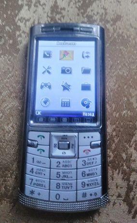 Металічний телефон на 2 Sim Donod D805 TV
