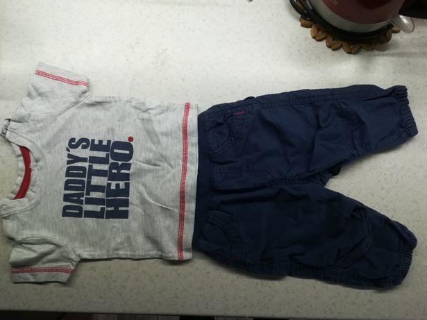 Komplet hm spodnie t-shirt