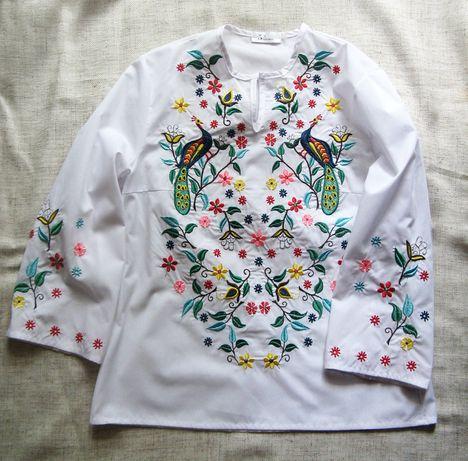 Блуза-вышиванка, р-р С, хлопок-вискоза