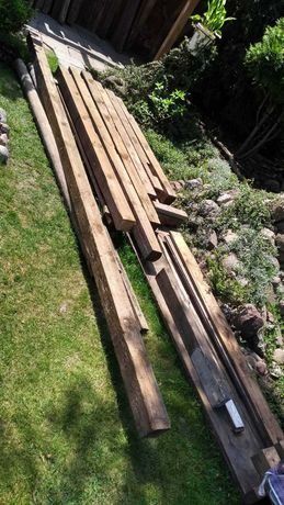 Belki drewniane 10X10 vintage, loft
