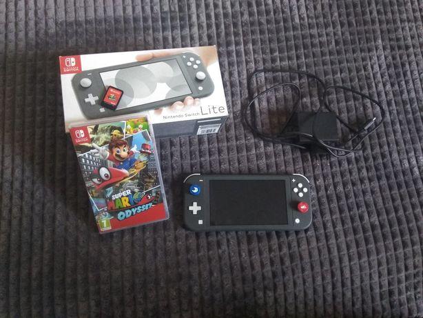 Konsola Nintendo Switch Lite szara + Super Mario Odyssey GWAR. ideał