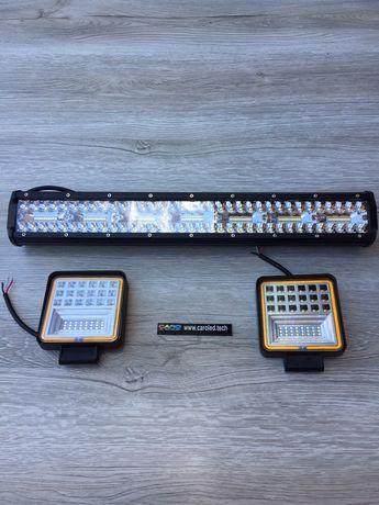 LED BAR 420W i 2 x 126W lampy robcze 12-24V 6500k NOWE