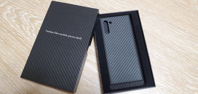 Карбоновый  чехол Samsung note 10 carbon case
