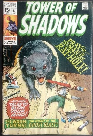 tower of shadows man in the rat hole / marvel comics