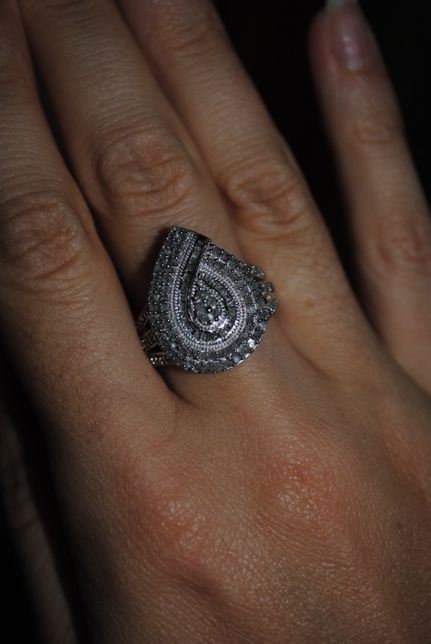 Новый серебряный перстень кольцо 925 пробы с бриллиантами 1 карат