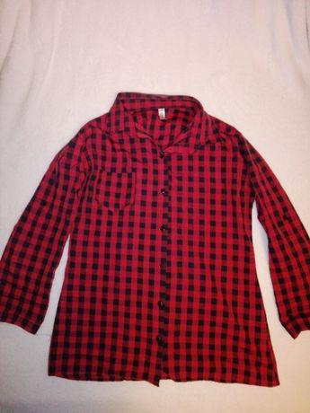 Koszula w kratę czerwona r. L